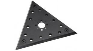 Plateau velcro triangulaire